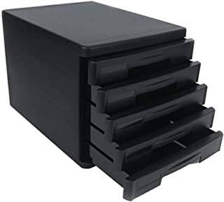 Module de rangement Module Classement armoire de Bureau Organisation du meuble de rangement en plastique à 5 tiroirs - Gri...