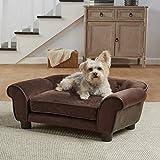 Enchanted Home Pet Ultra Plush Cleo Pet Sofa in Brown