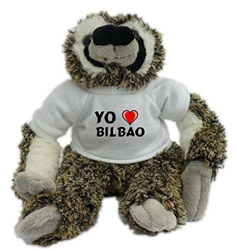 Bradypus de peluche con Amo Bilbao en la camiseta (ciudad / asentamiento)