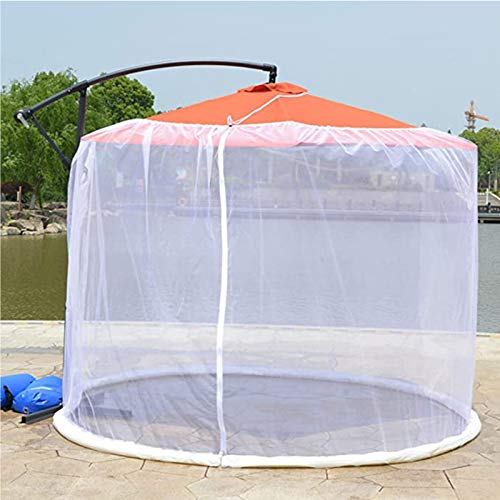 KPII Umbrella Cover Mosquito Netting Screen, Bug Screen for Table Umbrellas and Furniture Patio Umbrella Mosquito Net,White,300 * 230cm