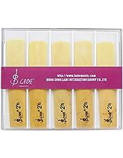 Dilwe 10Pcs Cañas de Bambú Saxofón, Fuerza 2.5 Cañas para BB Saxofón Tenor Accesorios