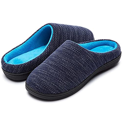 RockDove - Pantofola originale in memory foam bicolore da donna, blu...