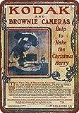 mefoll 8x12 Retro Metal Sign Kodak Brownie Cameras Vintage Look Reproduction 2 Wall Decor