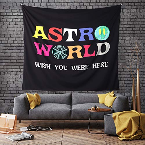 ASTRO WORLD Tapestry,WISH YOU WERE HERE Tapestry 3D Boutique Wall Tapestry Wall cool aesthetic funny cute Tapestry for Home Living Room Bedroom Dorm Decor (59.1 x 51.2 inches)
