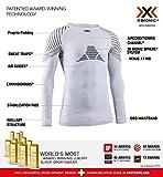 X-Bionic Invent 4.0 Shirt Round Neck Long Sleeves Women Capa De Base Camiseta Funcional, Mujer, White/Black, XS
