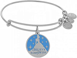 Alex and Ani Disney Parks Princess Cinderella Blue Enamel Believe in Every Wish
