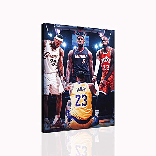 Lebron James Basketball Poster Room Decoration Canvas Wall Art Sports...