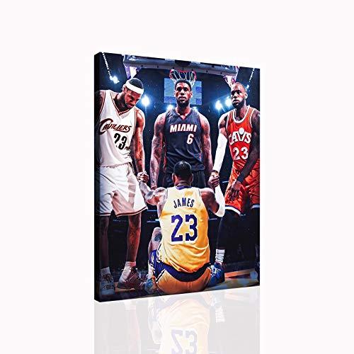 Lebron James Basketball Poster Room Decoration Canvas Wall Art Sports...