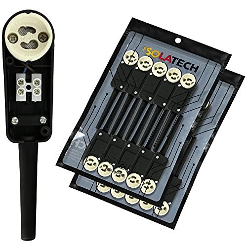 ISOLATECH GU10 Fassung Sockel mit Anschlusskasten VDE CE RoHS zum Einbau von Halogen- und LED-Einbaustrahler 20 Stück