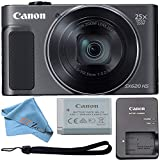 Canon PowerShot SX620 Digital Camera w/25x Optical Zoom - Wi-Fi & NFC Enabled (Black) ZeeTech Bundle (Cloth Only)