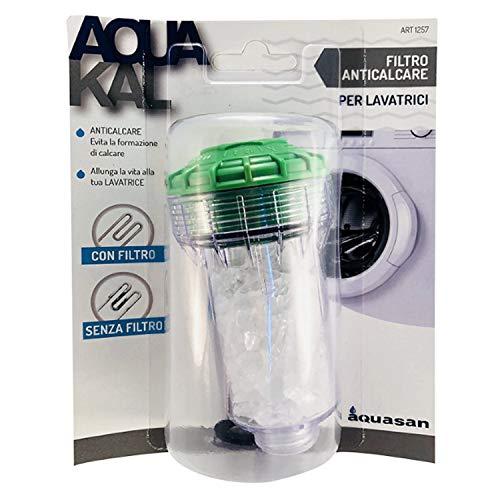 Aquasan Aquakal Filtro Anticalcare Decalcificante Sali Polifosfati Per Cura e Pulizia Della Lavatrice Depuratore Acqua Protegge il Tuo Elettrodomestico i Tuoi Vestiti Migliora l'effetto Del Detersivo