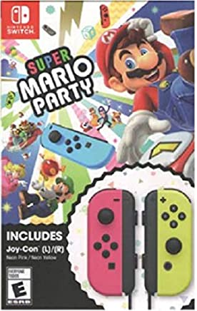 Super Mario Party with Joy-Con (Neon Pink/Neon Yellow), Switch