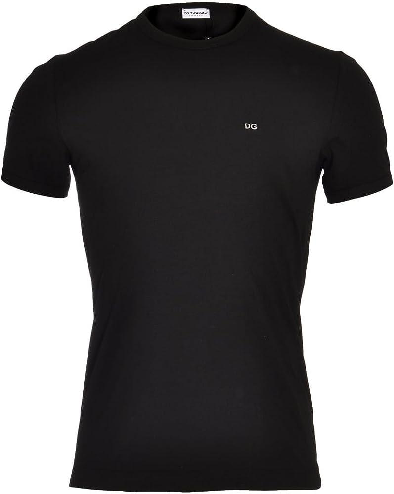White Dolce /& Gabbana FUGIA Crew Neck Stretch Cotton T-Shirt