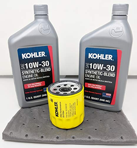 Genuine Kohler 52 050 02-S Oil Change Kit w/Oil pad and 10W-30 Oil