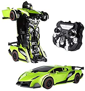 SainSmart Jr. Transform Car Robot, Electronic Remote Control RC Vehicles with One Button Tranforming and Realistic Engine ...