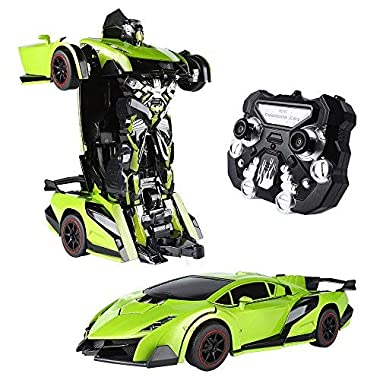 SainSmart Jr. 1/14 Big RC Transformer Car Robot, 2 in 1 Remote Control Electronic Vehicles with One Button Transforming…