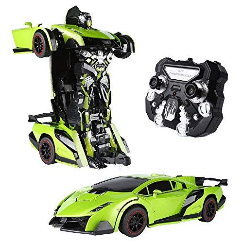 SainSmart Jr. 1:14 Big RC Transforming Robot Car, 2 in 1 Remote Control Transform Vehicles with One...