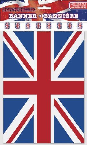10 m drapeau bannière * British Union Jack * avec 20 fanions/Décoration/Bunting Flag Party Fêtes d'anniversaire fete Devise Devise Party Guirlande Chaîne Guirlande drapeau Angleterre Grande-Bretagne UK Go