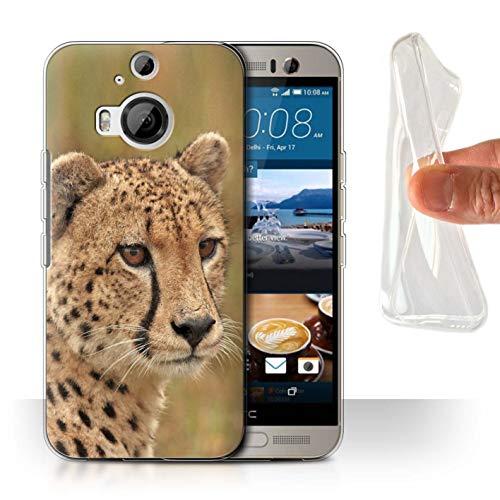 eSwish Gel TPU Hülle/Case für HTC One M9+/Plus/Gepard Muster/Wilde Große Katzen Kollektion