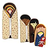 Constructive Playthings Multi-Ethnic Dressed to Nest Cloth Dolls for Kids, Set of 5