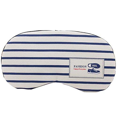 Lumanuby 1 Stück Schutzbrille aus Baumwolle und Leinen Augenmaske mit Kühlkissen für Schlafen und Entspannen für Pendler und Schichtarbeiter Streifen mit Schuhen Bild 20 * 9.5CM, Schlafbrille Serie