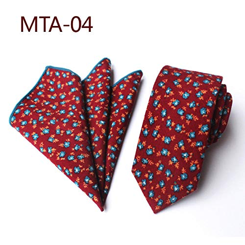 Luygiurp Krawatten Herren Floral Schmale Krawatte Square Tie Tie Pocket Handtuch Set @ Mta-4