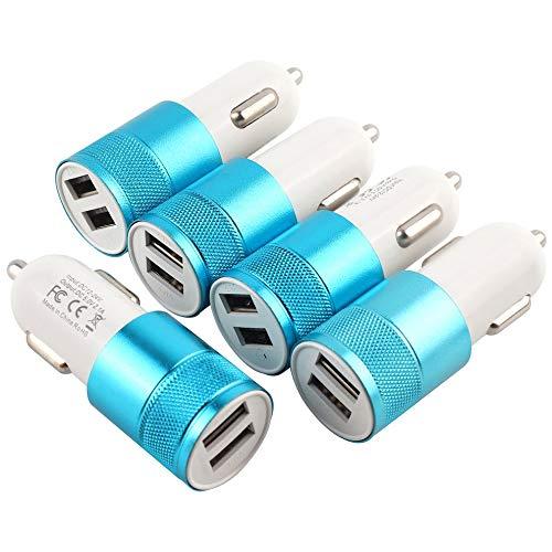 RoadRoma Adaptador de Cargador de Coche USB Dual Forma de Bala Toma...