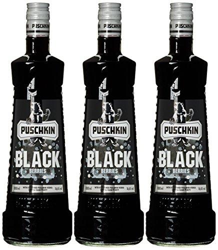 Puschkin Black Berries Vodka (3 x 1 l)