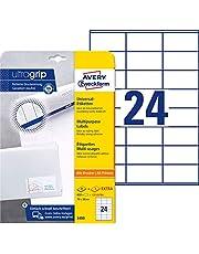 Avery Zweckform 3490 - Etiquetas universales (70 x 36 mm, 600 unidades), color blanco