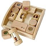 木製おもちゃのだいわ リスの森の音つみき 赤ちゃん 積み木 積木 ブロック 6ヵ月 0歳 がらがら にぎにぎ 出産祝い 誕生日 ギフト プレゼント