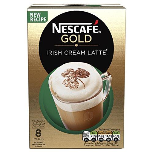 Nescaf? Gold Irish Cream Latte Coffee, 8 Sachets, 22 g (Pack of 6)