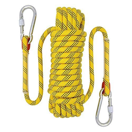 YMG 20M / 10M Outdoor-Kletterseil 12mm Durchmesser Outdoor-Wandern Hochohmiges Kabel Sicherheitsseil Lebensrettendes Wanderzubehör,10m