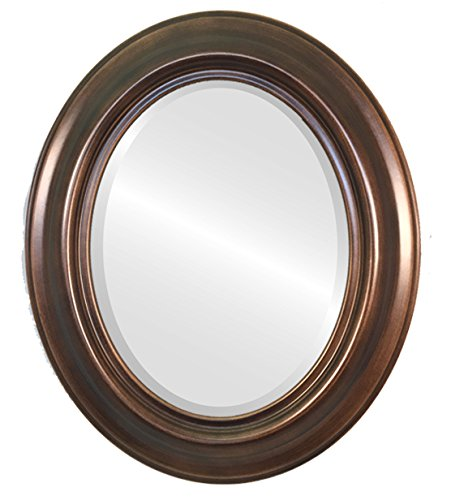 Oval Beveled Wall Mirror for Home Decor - Lancaster Style - Rubbed -