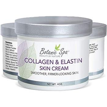 Botanic Spa Collagen & Elastin Skin Cream - Natural Skin Moisturizer - Helps Restore Skin & Natural Elasticity and Suppleness Reverse Signs of Aging Retains Skin Moisture and Tone