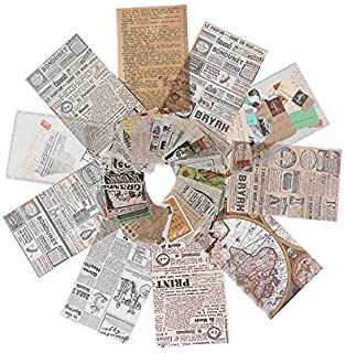 110Pcs Stickers Set Vintage Newspaper Journal Stickers for Planner DIY Decorative Stickers for Scrapbook Journaling Diary ...