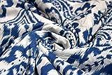 Trade Star – Tela de algodón para costura, decoración del hogar para niños, tela de algodón étnico para acolchar, tela por metro para cortina, algodón, Patrón 7, 3 Meter (A-A) - Black