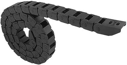 DealMux 10mm x 15mm Zwarte Plastic Flexibele Genestelde Semi Gesloten Drag Chain Kabel Draad Drarier 1M voor Elektrische M...