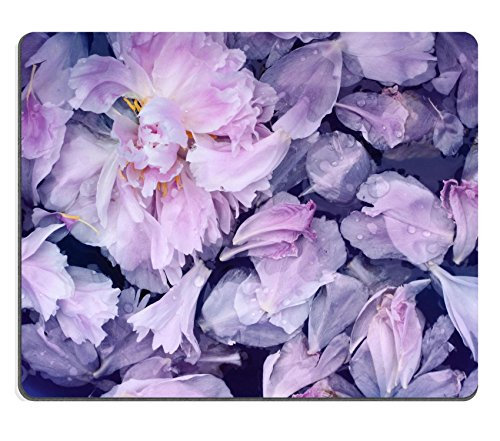 MSD Natural Rubber Gaming Mousepad IMAGE ID 29971367 Pink peonies petals background in water