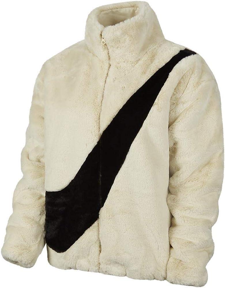 Nike Women's NSW Faux Fur Off-White Jacket