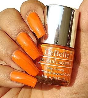 DeBelle Gel Nail Polish Tangerine Sheen 8ml- (Carrot Orange nail polish)