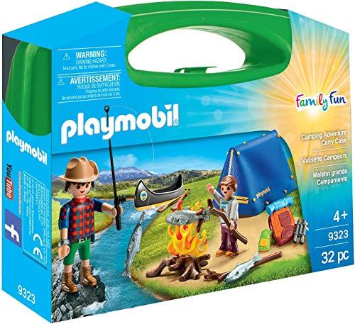 PLAYMOBIL PMB-SET07 Camping Adventure Carry Case Building Set, transparent, 200 g