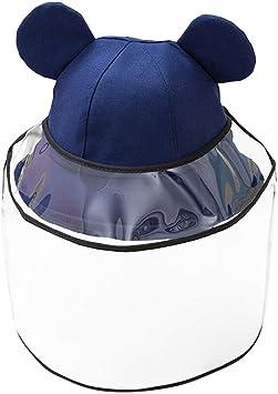 Chapeau de Protection Anti-Crachats Casquette /à Visi/ère Anti-Poussi/ère Capuchon de Protection FBGood Chapeau de S/écurit/é pour Enfants Arr/êter la Propagation par Les Gouttelettes de Salive A