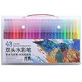 100 colores rotuladores de arte rotulador de punta doble bolígrafo FineLiner dibujo niños pintura acuarela bolígrafo útiles escolares papelería