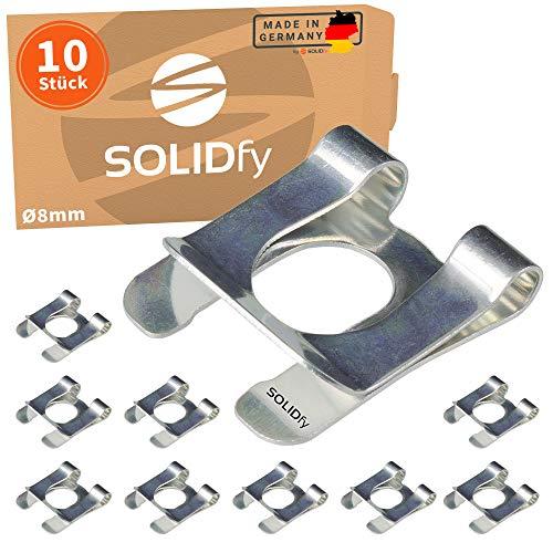 SOLIDfy® - [10x] SL-Sicherungen Ø 8mm Wellensicherung für Wellen und Bolzen verzinkte SL Sicherung