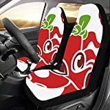 JOCHUAN Cubierta del Coche Fast Food Delicious Octopus Skewers Universal Fit Auto Car Seat Covers Protector para Auto Truck SUV Vehicle Women Lady (2 Front) Car Tow Cover
