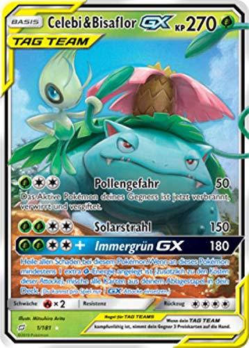 Celebi & Bisaflor GX Tag Team 1/181 Pokémon Teams sind Trumpf Sammelkarte - Deutsch - Cardicuno