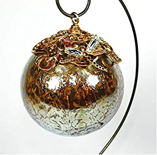 Jay Strongwater Christmas Ornament Ball Gold Large Original Box & Stand