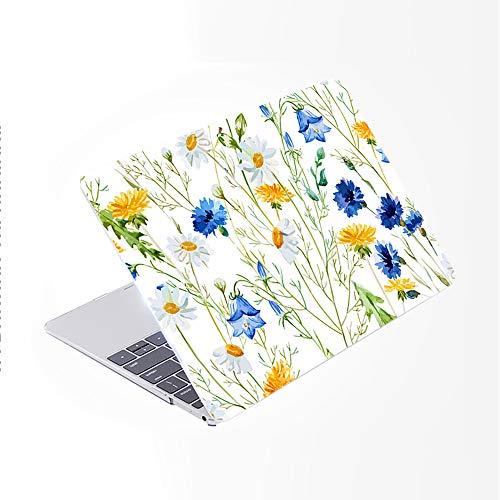 SDH Funda para MacBook Pro de 13 pulgadas (2020/2019/2018/2017/2016, Touch Bar e ID), carcasa rígida con patrón de plástico y funda para portátil Mac Pro 13 A2159/A1989/A1706/A1708, hojas de planta 2
