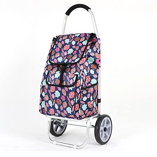 SH-gwtc Carro de Compras Plegable con Rueda de Escalada,Carro de la Escalera de la Compra Plegable con Ruedas giratorias rodantes y Bolsa Impermeable extraíble (Color : I)