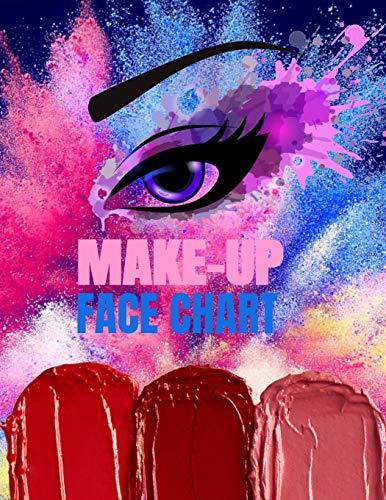 Make-up Face Chart: Vorlage für Visagisten und Beauty Blogger zum Zeichnen neuer Looks und Trends Gesicht schminken
